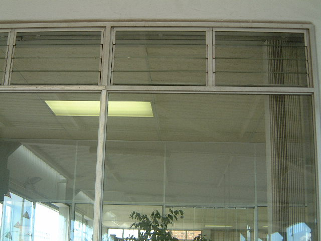 Light Steel Frame Structures Cape Town South Africa: Unisert Adjustable Glass Louvres